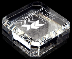 Optical crystal square paperweight